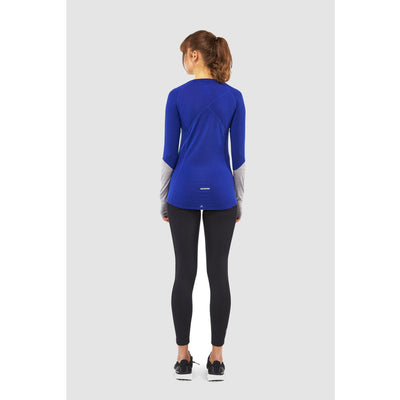 Mons Royale Merino Base Layer Top Bella Tech Blue - Latitude