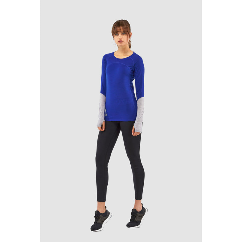 Mons Royale Merino Base Layer Top Bella Tech Blue