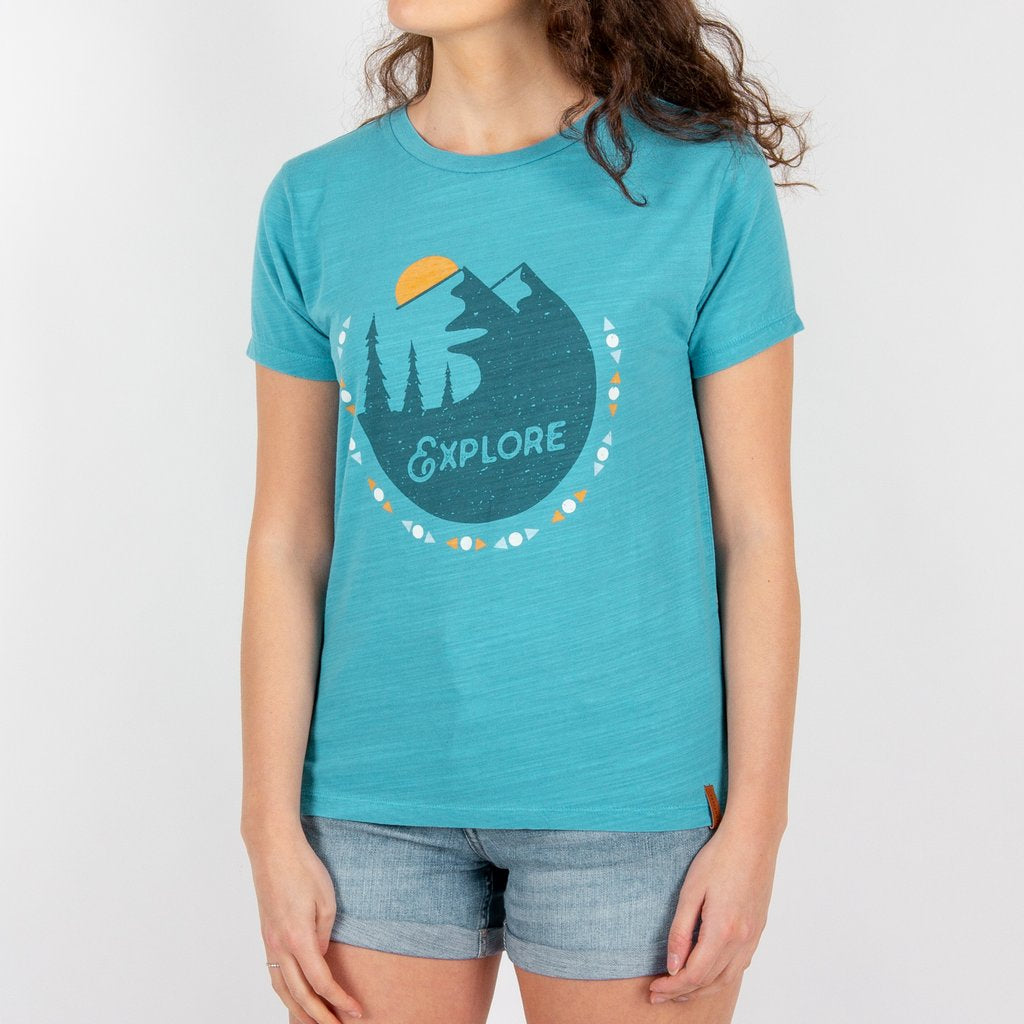 Passenger Clothing Womens Vista T-shirt Maui Blue - Latitude