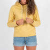 Passenger Clothing Womens Winder Hooded Top Cream Gold - Latitude