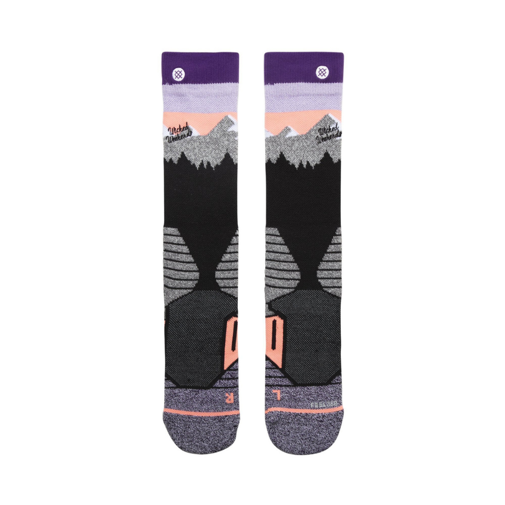 Stance White Cap Ski Socks Form