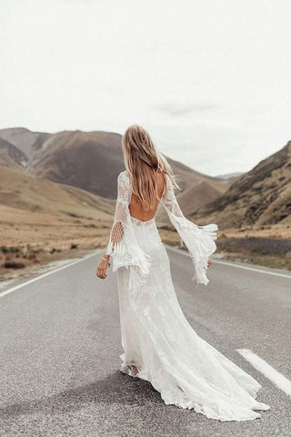 Boho Lace Dress Wedding Style