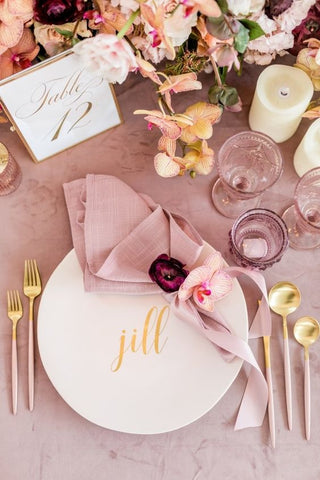 Pink Wedding Decor Idea Bride