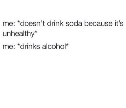 healthy drinks alcohol meme instagram @Girlwith3jobs