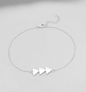 arrow bracelet, dainty jewelry by Kesley, Girlwith3jobs, meme*