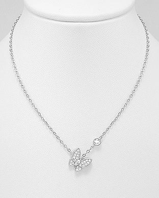 butterfly necklace in sterling silver by Kesley