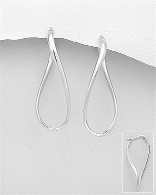 Sterling Silver Hoops by Kesley