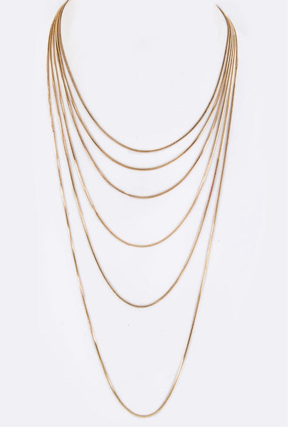 Layer Cocktail Gold Necklace