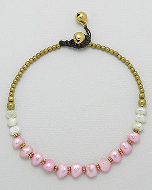 Pearl Anklet by Kesley, Girlwith3jobs