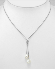 Love Knot Lariat Necklace.
