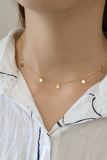 Gold choker, coin choker necklace, boho style necklace, Gifts for her, popular jewelry, dainty necklace, by KesleyBoutique.com, Girlwith3jobs.com