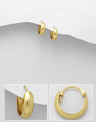 Small gold hoop earring by Kesley, Girlwith3jobs