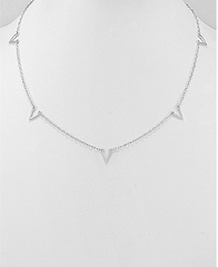 Triangle choker necklace by Kesley, Girlwith3jobs