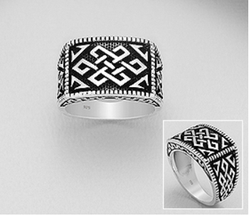Silver Tie Celtic Ring