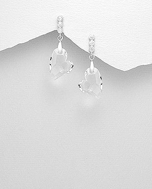 Swarovski Crystal Love Earrings