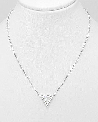 Mother of Peal Triangle Necklace