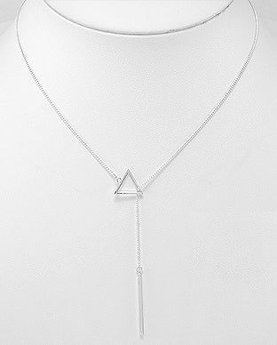triangle lariat necklace , trendy streetstyle, by Kesley Girlwith3jobs, meme*