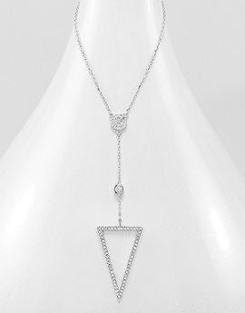Triangle Lariat Necklace.