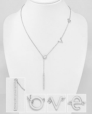 Deep love lariat necklace by kesley boutique, girlwith3jobs