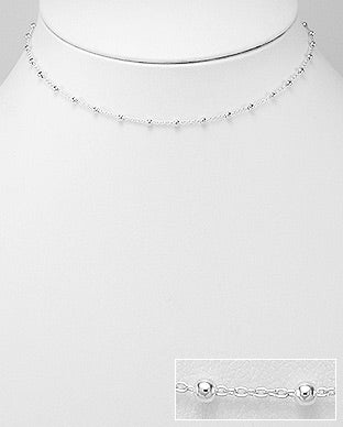 Cute little choker, Dainty Silver Choker in sterling silver by Kesley Boutique
