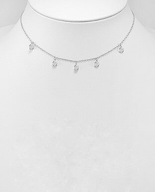 Dainty Choker in sterling silver by Kesley