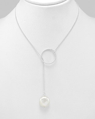 Pearl of Circle Necklace.