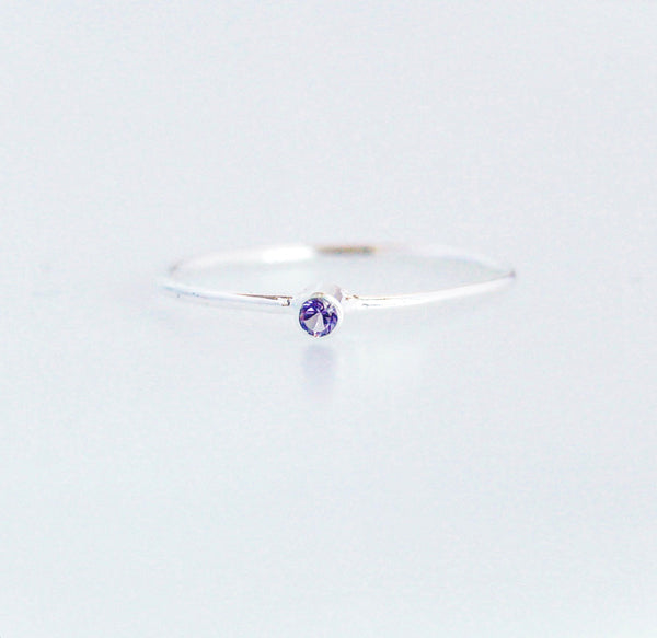 Little Amethyst Ring by Kesley, Girlwith3jobs