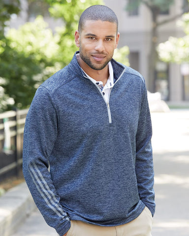 Men's Adias Terry Heather Quarter-Zip