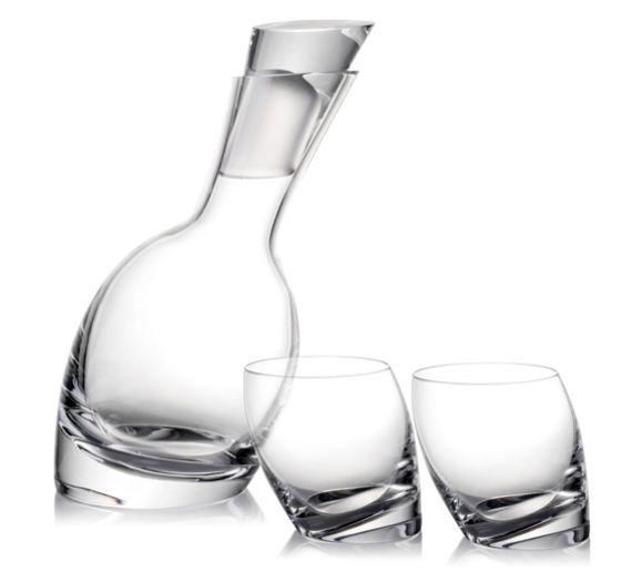 Nambe Crystal Decanter Set