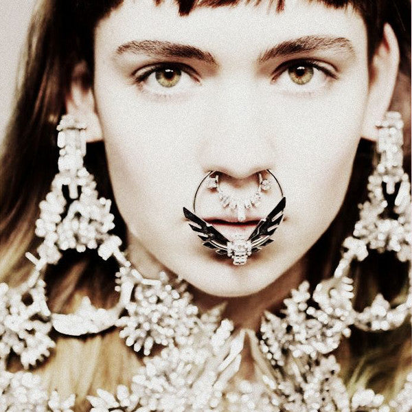 Grimes wears Givenchy haute couture nose-ring, Dazed & Confused, 2012
