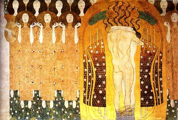 Gold_Bling_culture_art_fashion_trend_article_kids of dada  Gustave Klimt, 'Beethoven Fries', 1902