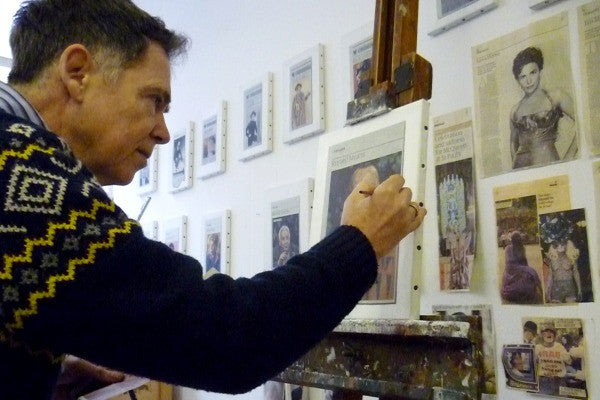 Hugh Mendes in his studio, 2013