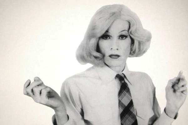 Andy Warhol, self-portrait in drag, 1981