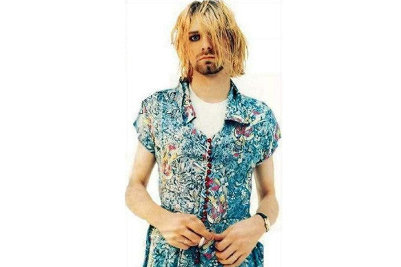 Kurt Cobain in Courtney Love's dress