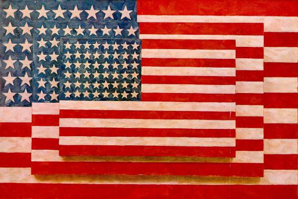 Jasper Johns, 'Three Flags', 1958