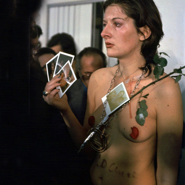 Marina Abramovic's performance of 'Rhythm 0', 1974