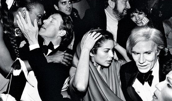 Bianca Jagger and Andy Warhol at Studio 54, 1970s