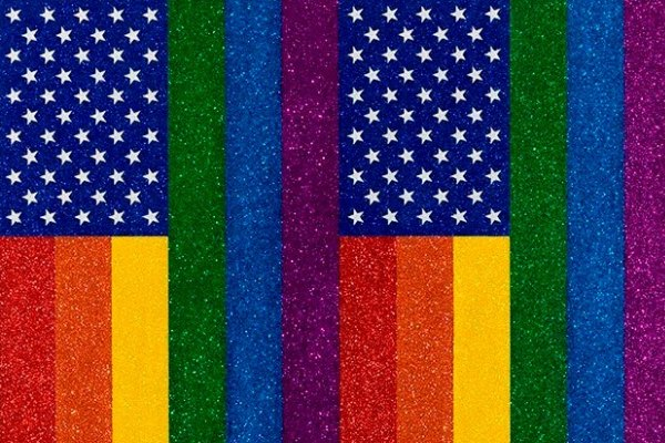 Jonathan Horowitz, 'Two Rainbow American Flags for Jasper in the Style of the Artist's Boyfriend', 2011