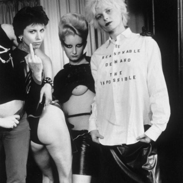 Chrissie Hynde, Jordan and Vivienne Westwood in SEX, 1976
