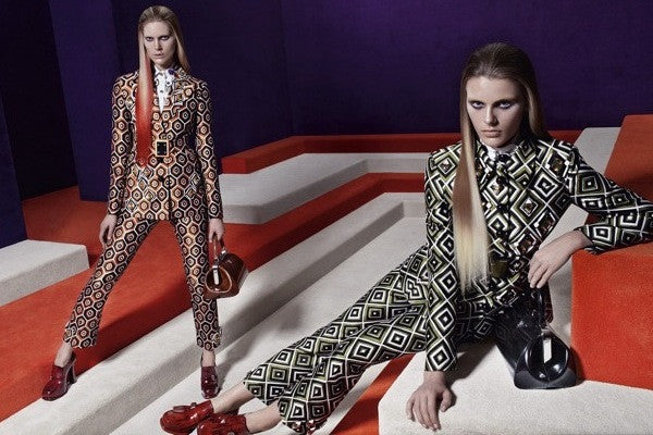 Prada's FW12 campaign, inspired by video games