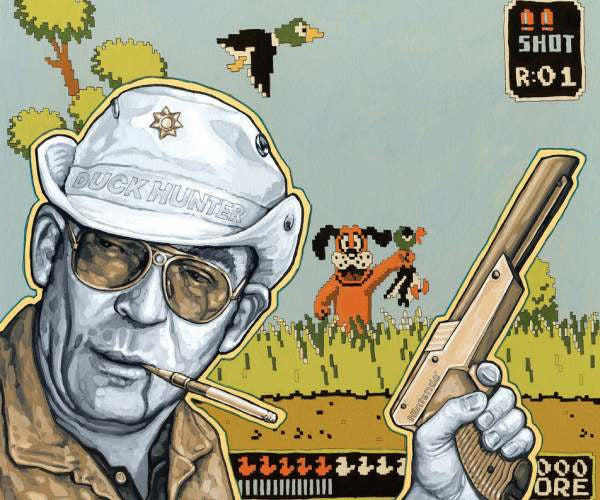 Tim Tomkinson, 'Duck Hunter S. Thompson', 1988