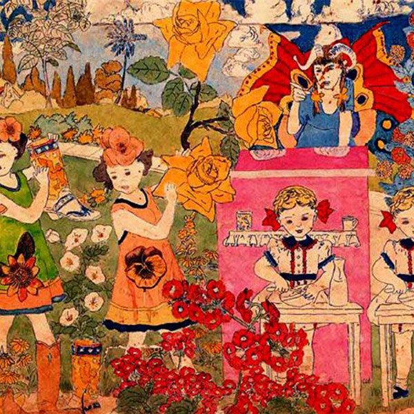 henry darger_600_fantasy_nature_flowers_outsider art_children_controversial_illustration_caretaker_article_Kids of Dada