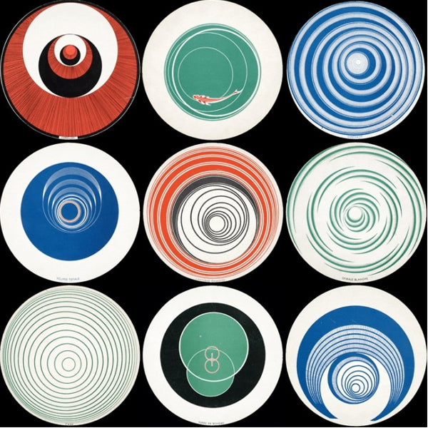 Marcel Duchamp, Rotoreliefs -1935.When spun on a turntable at 40–60 rpm these double sided discs create an optical illusion, a manifestation of Duchamp's interest in mechanical art. Duchamp and Man Ray filmed early versions of the spinning discs for the short film Anémic Cinéma