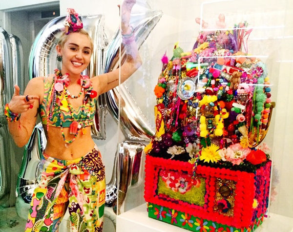 "Miley Cyrus at the opening of her exhibition, ""Dirty Hippie."" at Art Basel 2014"