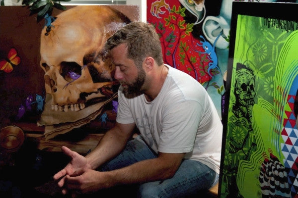 Ryan Hobson in his studio, 2013