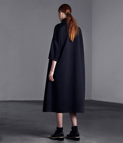 Arethè_Stockholm_dress_clothing_under_150_polyester_black_oversized_high_neck_urban_edgy_fashion_kidsofdada