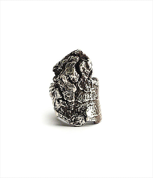 Brooklyn_Heavy_Metal_ring_jewelry_handmade_oxidized_silver_rough_bark_chunky_statement_rock_edgy_fashion_kidsofdada