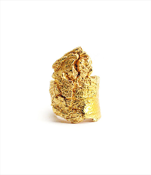 Brooklyn_Heavy_Metal_ring_jewelry_handmade_brass_gold_rough_bark_chunky_statement_rock_edgy_fashion_kidsofdada