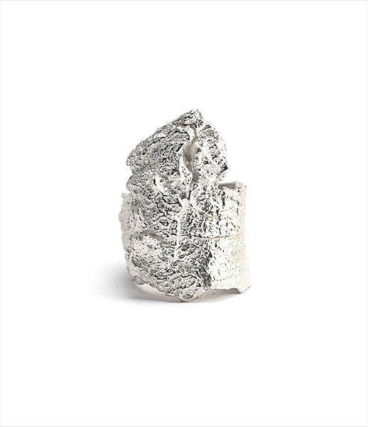 Brooklyn_Heavy_Metal_ring_jewelry_handmade_sterling_silver_rough_bark_chunky_statement_rock_edgy_fashion_kidsofdada