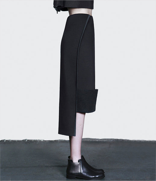 Dzhus_skirt_clothing_made_to_order_under_200_cotton_black_dipped_back_tucks_structural_sculptural_kidsofdada